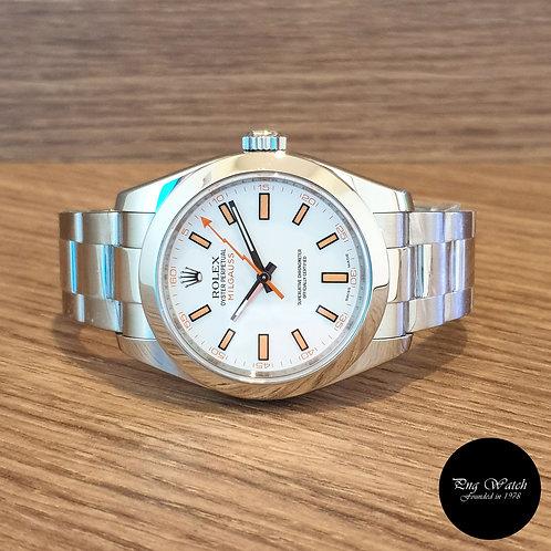 Rolex White Milgauss REF: 116400 (2)