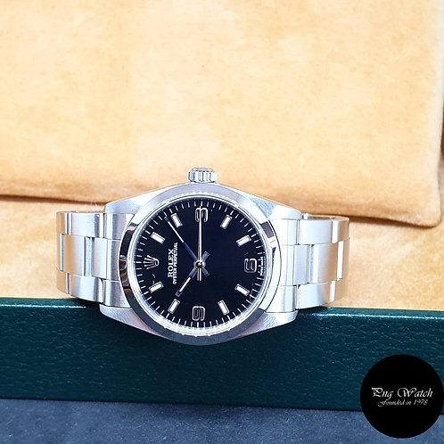 Rolex 31mm Black Oyster Perpetual REF: 77080