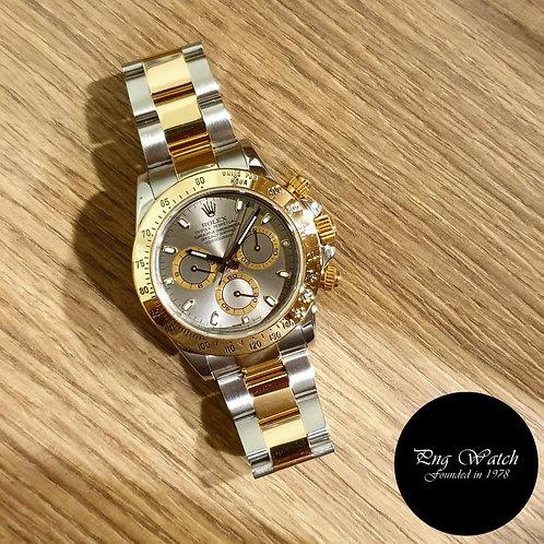 Rolex Oyster Perpetual 18K Half Gold Grey Daytona REF: 116523 (2)