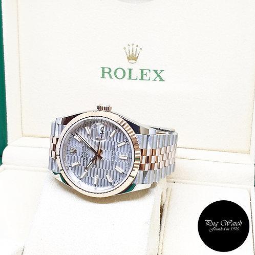 Rolex 18K Half Rose Gold 36mm Silver Indexes Motif Datejust REF: 126231 (2021)