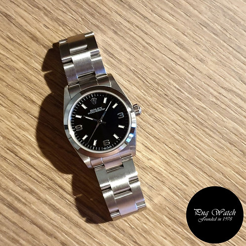 Rolex 31mm Black Steel Oyster Perpetual (Full Set)(2)