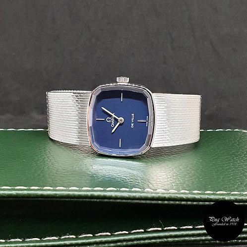 Vintage Omega 18K White Gold Blue De Ville REF: 8338