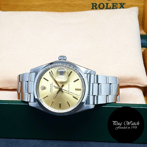 Rolex Champagne Indexes Oysterdate Precision REF: 6694