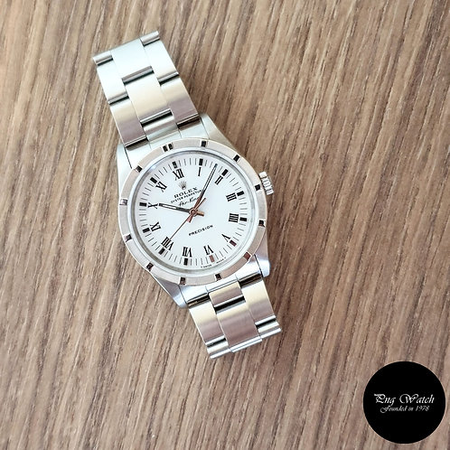 Rolex Oyster Perpetual White Roman Air-King REF: 14010 (2)