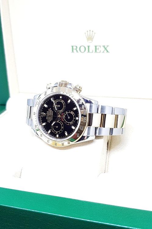 Rolex 18K Half Gold Black Cosmograph Daytona REF: 116523