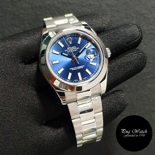 Rolex Oyster Perpetual 41mm Blue Indexes Datejust REF: 116300 (2)