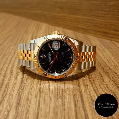 "Rolex Oyster Perpetual 18K Half Rose Gold ""Turn-O-Graph"" Datejust REF: 116261 (2"