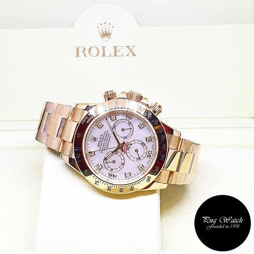 Rolex OP 18K Yellow Gold MOP Diamonds Cosmograph Daytona  REF: 116528