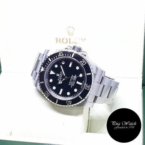 Rolex Oyster Perpetual Ceramic No Date Black Submariner REF: 114060 (2014)