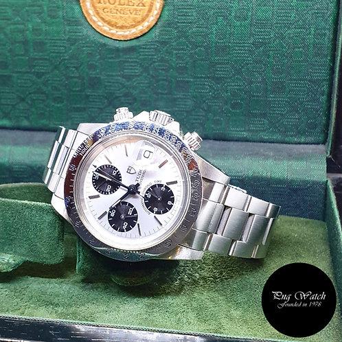 "Vintage Tudor Silver Oysterdate ""Big Block"" Chronograph (By Rolex) REF: 79180"