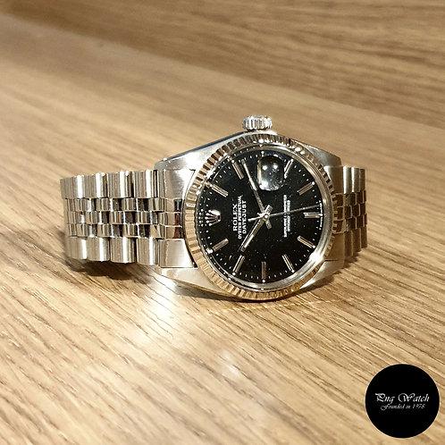 "Rolex Oyster Perpetual Black ""Stardust"" Datejust REF: 16014"