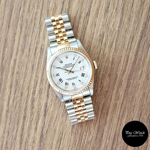 Rolex 18K Half Gold Roman Diamonds Datejust REF: 16233 (2)