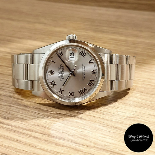 Rolex Silver Roman Oyster Perpetual Datejust REF: 16200