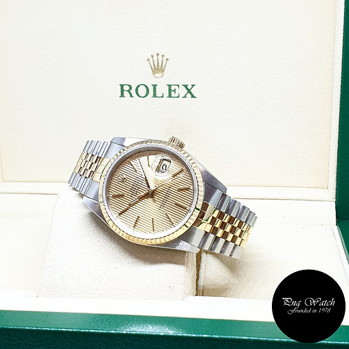 Rolex Oyster Perpetual Champagne Tapestry Datejust REF: 16233