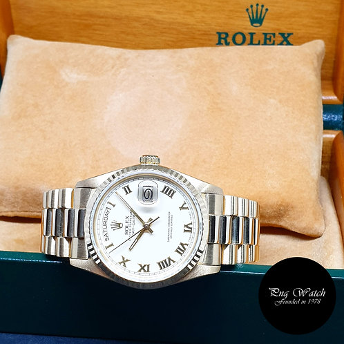 Rolex Oyster Perpetual 18K Yellow Gold Cream Roman Day-Date REF: 18038