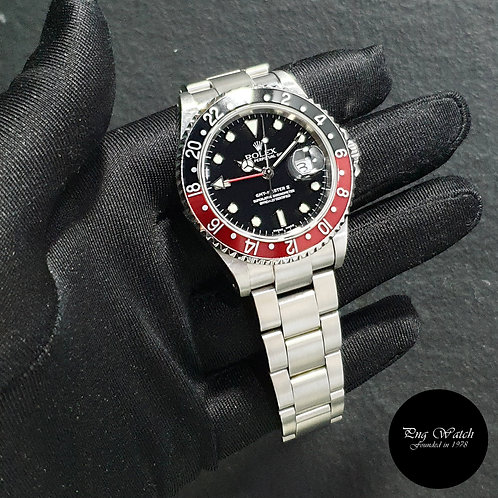 """Rolex Oyster Perpetual """"COKE"""" Black GMT Master 2 REF: 16710 (2)"""