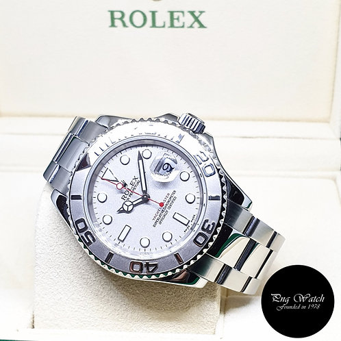 Rolex Oyster Perpetual 40mm Platinium Yachtmaster REF: 16622 (D series)