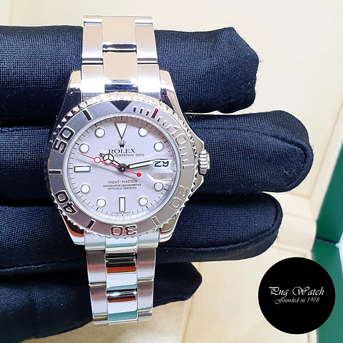 Rolex Oyster Perpetual 35mm Platinum Yachtmaster REF: 168622 (2)