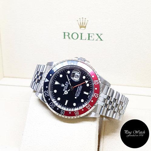 """Rolex Oyster Perpetual """"COKE""""  Black GMT Master 2 Jubilee Bracelet REF: 16710"""