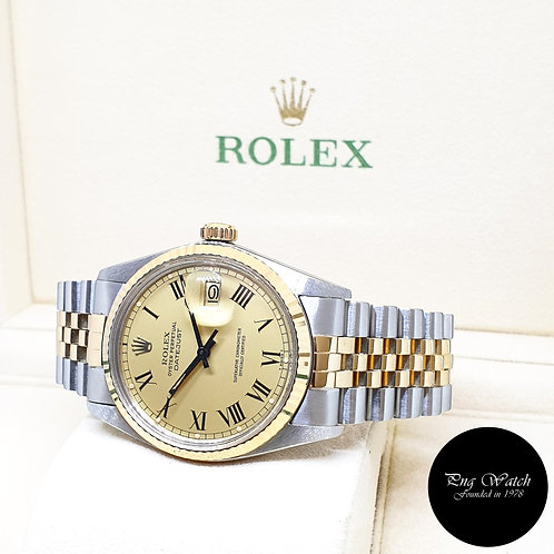 """Rolex Oyster Perpetual 18K Half Gold Datejust """"Buckley Dial"""" REF: 16013 (1983)"""