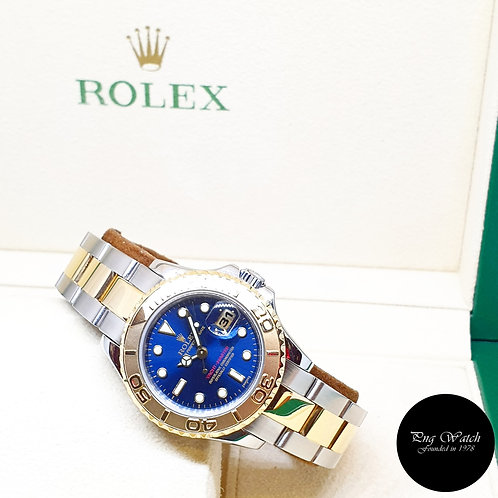 Rolex Oyster Perpetual 18K Half Gold Blue 29mm Yachtmaster REF: 69623