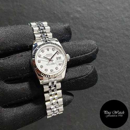 Rolex Oyster Perpetual 26mm White Diamonds Datejust REF: 179174 (2)