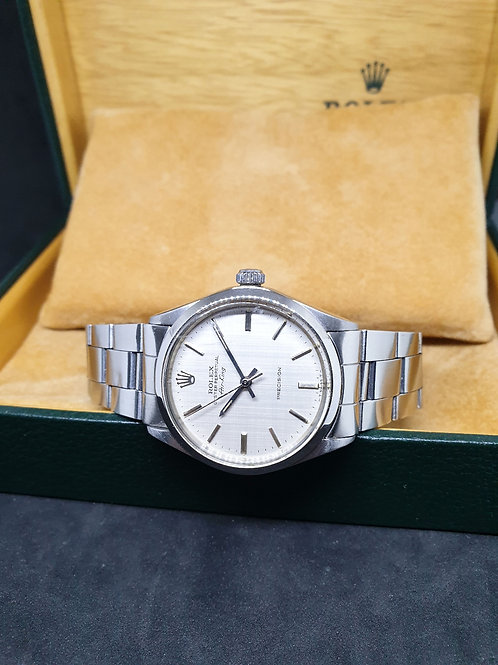 Rolex Oyster Perpetual Silver Linen Air-King REF: 5500