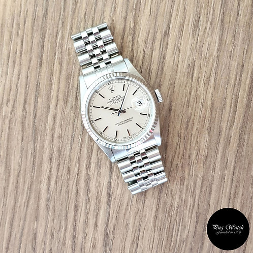 Rolex Oyster Perpetual Silver Index Datejust REF: 16234 (2)
