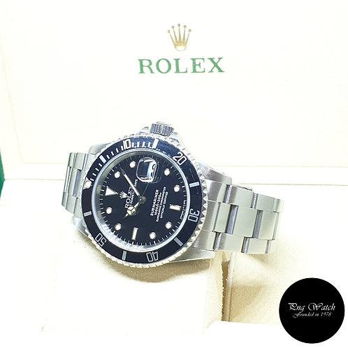 Rolex Oyster Perpetual Tritium Date Black Submariner REF: 16610 (E Series)