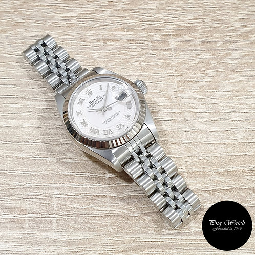 Rolex Oyster Perpetual Pink MOP Ladies Datejust REF: 79174 (2)