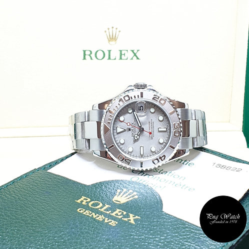 Rolex Oyster Perpetual 35mm Platinium Yachtmaster REF: 168622 (Y)