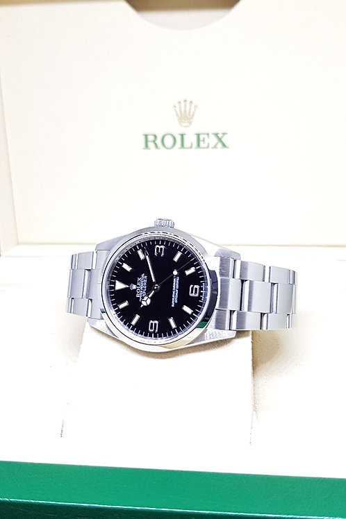 Rolex Oyster Perpetual Black Explorer One with Rehaut Ring REF: 114270