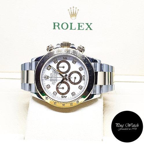 Rolex OP 18K Half Gold White Diamonds Cosmograph Daytona REF: 116523