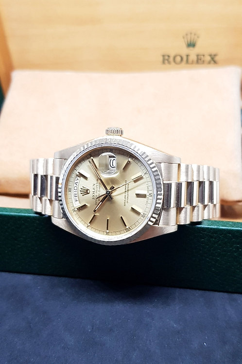 Rolex Oyster Perpetual Day-Date 18K Solid Yellow Gold REF: 18038