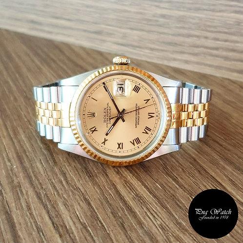 Rolex 18K Half Gold Champagne Datejust REF: 16233 (2)