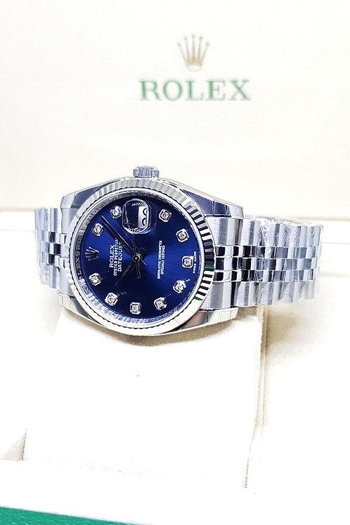 Rolex Oyster Perpetual Blue 10PT Diamonds Datejust REF: 116234