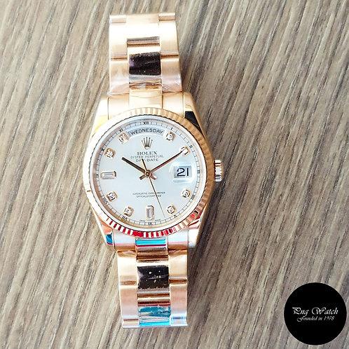 Rolex 18K Solid Rose Gold Diamonds Day-Date REF: 118235 (2)