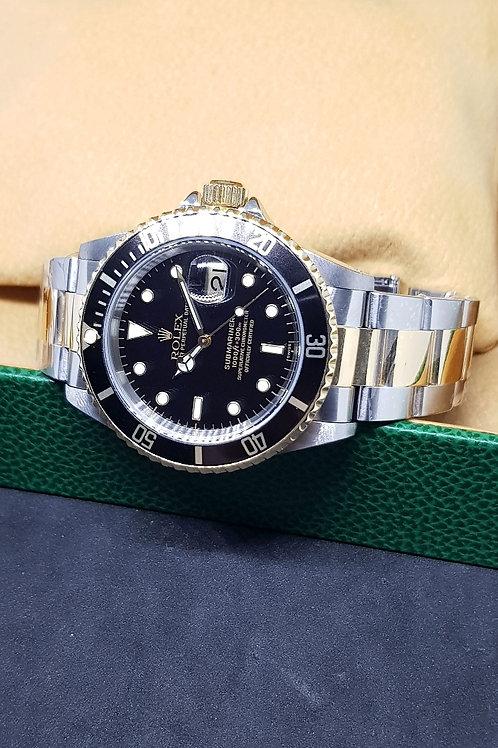 Rolex Black 18K Half Gold Submariner REF: 16613