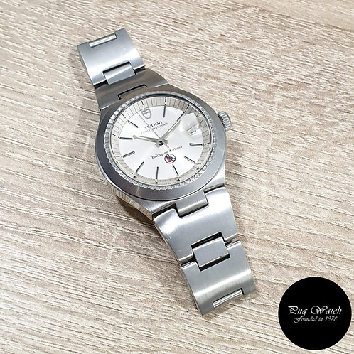 """Tudor Silver """"Philippine Airlines"""" Prince Oysterdate REF: 9101/01 (By Rolex)(2)"""