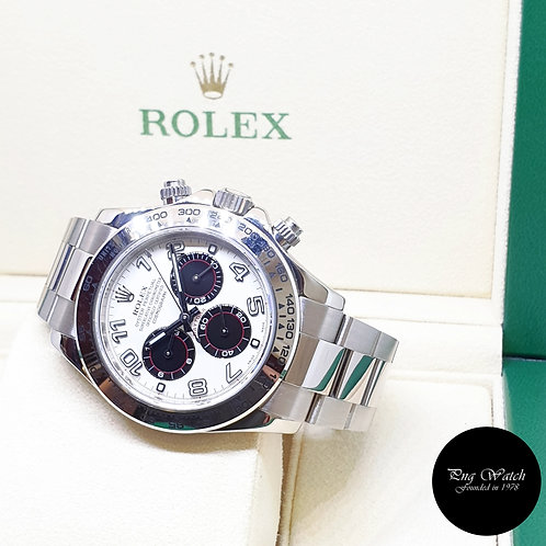 "Rolex Oyster Perpetual 18K White Gold ""PANDA"" Daytona REF: 116509 (D Series)"
