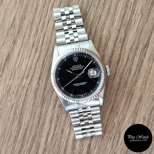 Rolex Oyster Perpetual Black Index Datejust REF: 16234 (2)