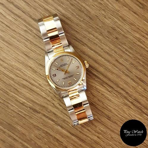 Rolex 18K Half Gold Grey Oyster Perpetual REF: 67483 (2)