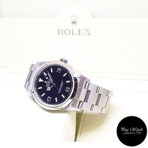 Rolex Oyster Perpetual 36mm Black Steel Explorer One REF: 114270 (Cert)