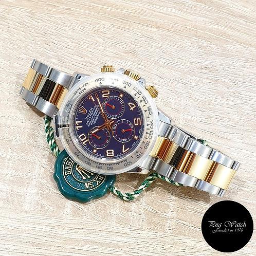 Rolex OP 18K Half Gold Blue Arabic Cosmograph Daytona REF: 116503 (2)