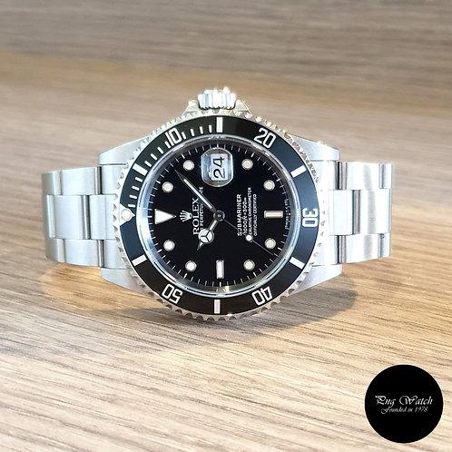 Rolex Tritium Black Submariner Date REF: 16610 (S Series)(2)