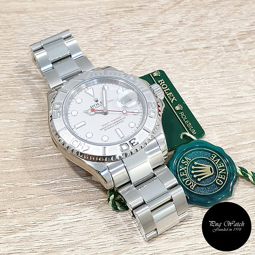 Rolex Oyster Perpetual Platinium 40mm Yachtmaster REF: 16622 (V)(2)