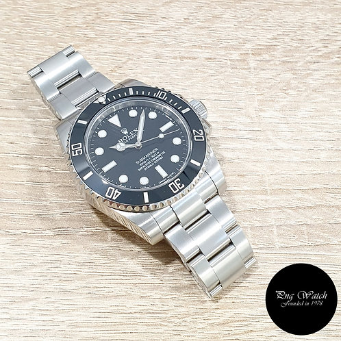 Rolex OP Steel Ceramic No Date Black Submariner REF: 114060 (13)(2)