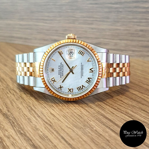 Rolex 18K Half Gold Mother-Of-Pearl Datejust REF: 16233