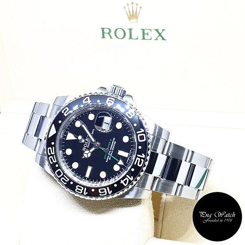 Rolex Oyster Perpetual Black Ceramic GMT Master 2 REF: 116710LN (M Series)