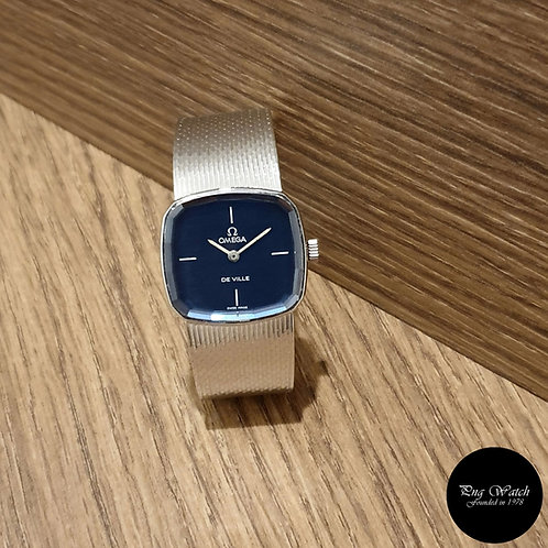 Vintage Omega 18K White Gold Blue De Ville REF: 8338 (2)